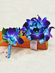 corsage and boutonniere prices corsage bout blue orchids cherry blossoms florist