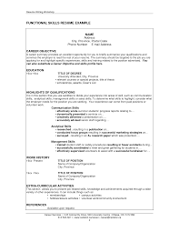 Functional Format Resume Example by Resume Skills Examples Resume Templates