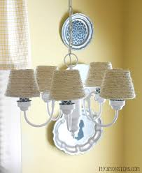Beachy Chandeliers My 3 Monsters Diy Chandelier Makeover