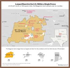 wt waggoner ranch map for 725 million you can buy a ranch that s the size of a