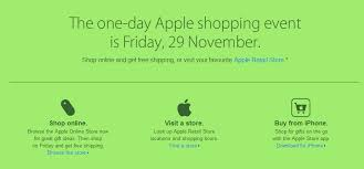 apple thanksgiving deals one day apple shopping event