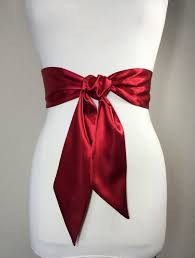 satin sash belt crimson sash belt satin sash waist wrap belt