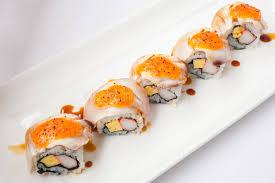 cuisine japonaise santé les oeufs saumonés de cuisine japonaise et le nigiri d imitation de
