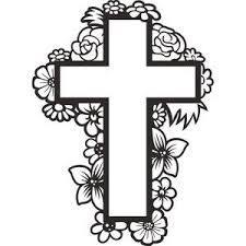 floral cross silhouette design silhouettes and store