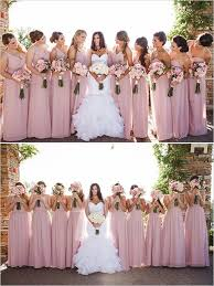 pink and black industrial modern wedding pink dresses