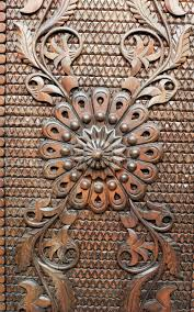 detail from an iron metal door up of ornament