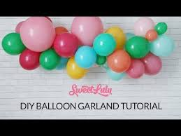 balloon garland sweet lulu balloon garland tutorial