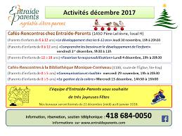 bureau du coordonnateur voici les activités de décembre offertes bureau coordonnateur