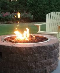 Stone Fire Pit Kit by Fire Pits Stone And Regular Kits Gas Wood Powered Stonewood