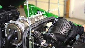 how to change your air filter john deere compact utility