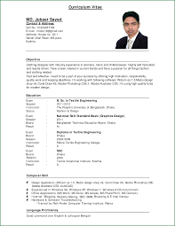 Resume Templates College Student No Job Experience How To Write A Curriculum Vitae College Student