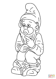 dwarf sitting on a potty coloring page free printable coloring pages
