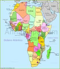 mapa de africa mapa de áfrica mapa politico de africa países de áfrica