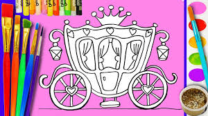 Paint Coloring Disney Royal Carriage Coloring Girls