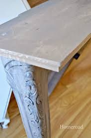 Narrow Sofa Table Homeroad Diy Narrow Wall Or Sofa Table