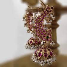 kempu earrings pin by madhurya on temple jewellery temple peacocks