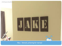 stencil style lettering for kids name art