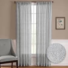 nicetown sheer curtain panels u2013 ease bedding with style