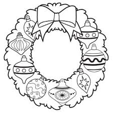 christmas day christmas wreath drawing u2013 merry christmas u0026 happy