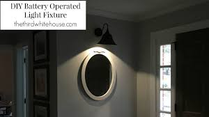 Battery Operated Light Fixture Diy Battery Operated Light Fixture The Third White House