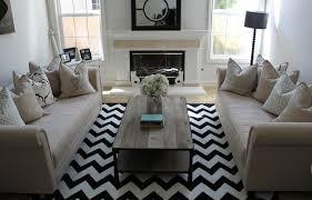 chevron rug living room black and white chevron rug contemporary living room belmont