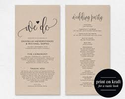 wedding programs templates wedding programs template business template