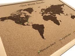 Pin Board Cork Board World Map Includes 100 Map Pins Push Pin World Map