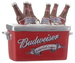 budweiser cooler ornament his and hers