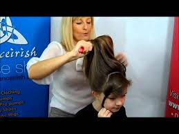 hairstyles for an irish dancing feis how to prepare your hair for a caitlyn loose curl bun wig youtube