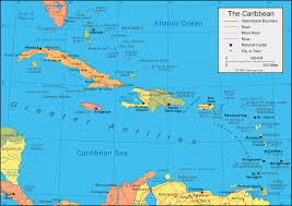 carribbean map caribbean islands map and satellite image