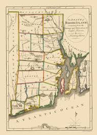 Warwick New York Map by Old State Map Rhode Island Carey 1814