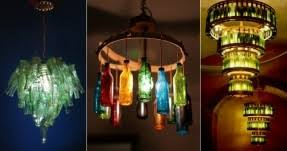 Diy Bottle Chandelier Recycled Glass Chandelier Foter