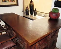 Hammered Copper Dining Table Sealed Patina On Hammered Copper Countertop Southwestern Home