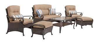 Deep Seating Patio Lake Como Deep Seating Wicker Patio Furniture Set Khaki Tan 6