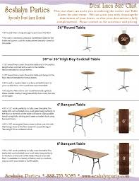 Table Linen Sizes - highboy table size home table decoration