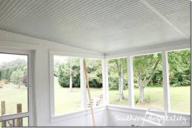 Beadboard Porch Ceiling by Updates On The Porch Blue Ceiling Southern Hospitality