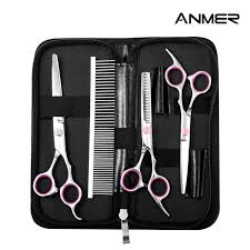 Anmer by Amazon Com Anmer Pet Grooming Scissors Kits 4 Pairs For Body