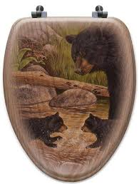 themed toilet seats outdoor inspired oak veneer toilet seats creek home