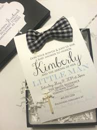 personalized bow tie baby shower invitations with baby shower