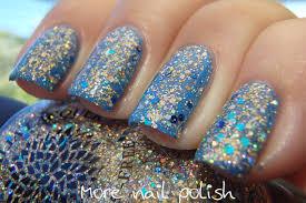 silver glitter nail polish with gold aqua u0026 navy blue glitter