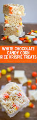 white chocolate candy corn rice krispie treats yellow bliss road