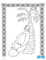 jungle book baloo coloring pages hellokids