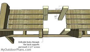 large double chair bench plans myoutdoorplans free woodworking