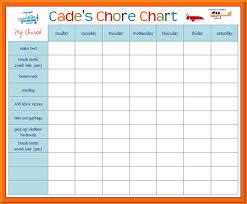 Chore Sheet Template 3 Chore Chart Templates Receipt Templates