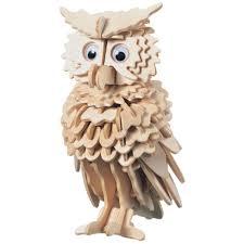 3d wooden owl puzzle hobbycraft
