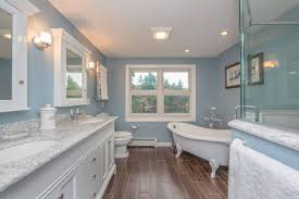 spa like bathroom remodel redesign bedford nh we gutted this master bathroom in a 1980s colonial style home in removing the old whirlpool tub and a small closet we were able to make room for a