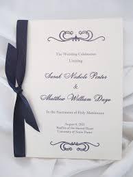 Catholic Wedding Booklet Booklet Style Wedding Program Basilica And Holy Spirit Chapel