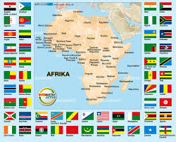 africa map 54 countries map of flags africa 54 countries map in the atlas of the world