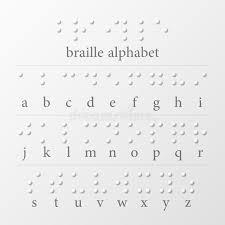 Alphabet Blind Braille Dots Alphabet Stock Vector Image Of Blind Communication