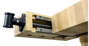 Woodworking Bench Vise Installation by Tail Vise Hardware Lie Nielsen Toolworks